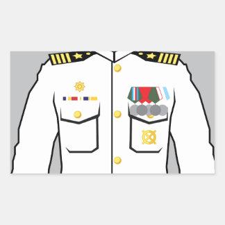 海軍役人 長方形シール