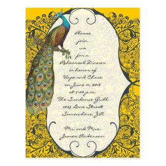 海軍愛鳥のダマスク織のリハーサルの夕食の招待状 ポストカード