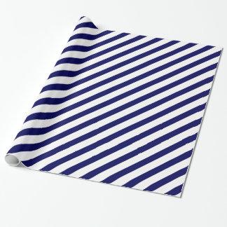 海軍斜めのストライプ 包装紙