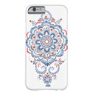 海軍水彩画の曼荼羅の花の電話箱 BARELY THERE iPhone 6 ケース