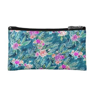 海軍熱帯楽園のハワイのハイビスカスの花柄 コスメティックバッグ