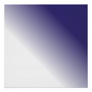 海軍白いグラデーション ポスター