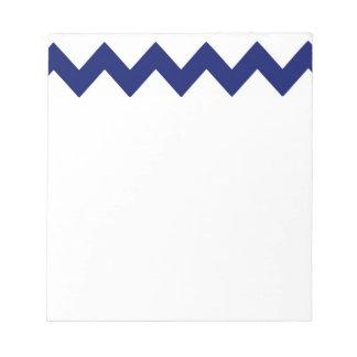 海軍白いシェブロンのメモ帳 ノートパッド