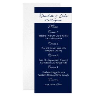海軍結婚式メニュー 10.2 X 23.5 インビテーションカード