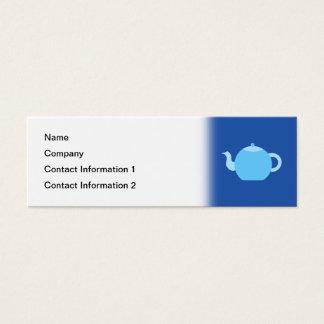 海軍背景の青いティーポット スキニー名刺