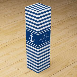 海軍航海のないかりの結婚式の引き出物のワイン用化粧箱 ワインギフトボックス