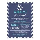 海軍航海のなシェブロンのベビーシャワーの招待状 カード