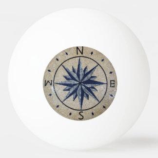 海軍航海のな磁針北の南東の西の大理石 卓球ボール