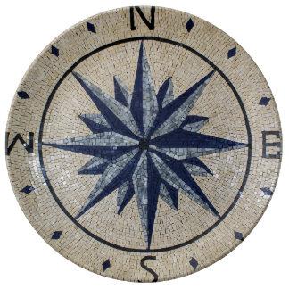 海軍航海のな磁針北の南東の西の大理石 磁器プレート
