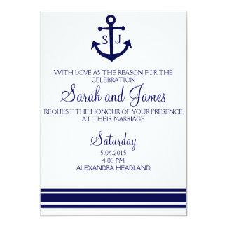 海軍航海のな結婚式招待状 カード