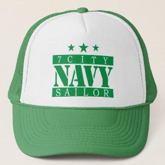 海軍船員-緑のロゴ キャップ