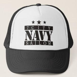 海軍船員-黒いロゴ キャップ