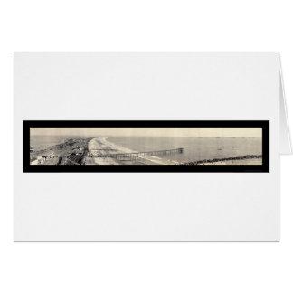 海軍艦隊のサンディエゴの写真1908年 カード