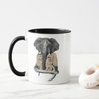 海軍象 マグカップ