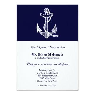 海軍退職 12.7 X 17.8 インビテーションカード