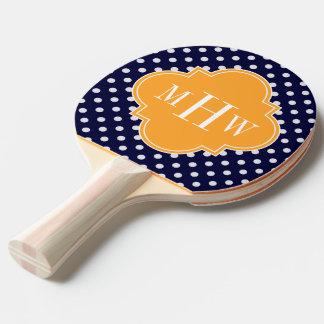 海軍重量の水玉模様のメロンのクローバー3のモノグラム 卓球ラケット