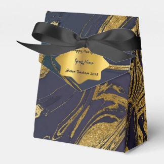 海軍金ゴールドの大理石の新年のクリスマスのギフト フェイバーボックス