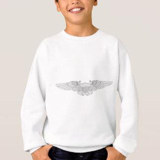海軍飛行役人の翼-銀 スウェットシャツ