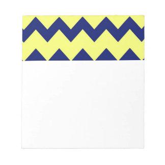 海軍黄色いシェブロンのメモ帳 ノートパッド