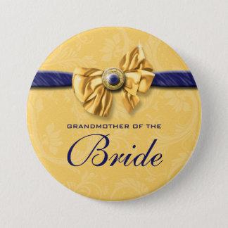 海軍黄色いブライダルパーティの結婚式 缶バッジ