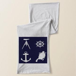 海軍、車輪、舵輪、濃紺のいかり スカーフ