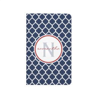 海軍Quatrefoilのモノグラム ポケットジャーナル