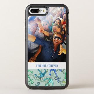 海錨およびロープパターン|あなたの写真及び文字 オッターボックスシンメトリーiPhone 8 PLUS/7 PLUSケース