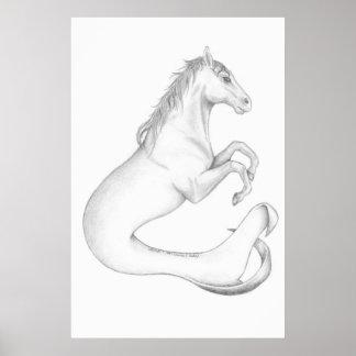海馬のプリント ポスター