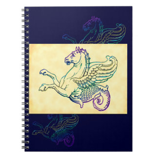 海馬の神話上のタツノオトシゴのヴィンテージの芸術 ノートブック