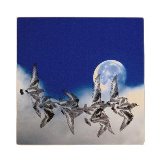 海鳥の月木コースター ウッドコースター