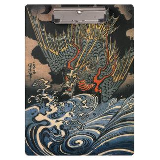 海龍、国芳、海のドラゴン、Kuniyoshi、Ukiyo-e クリップボード
