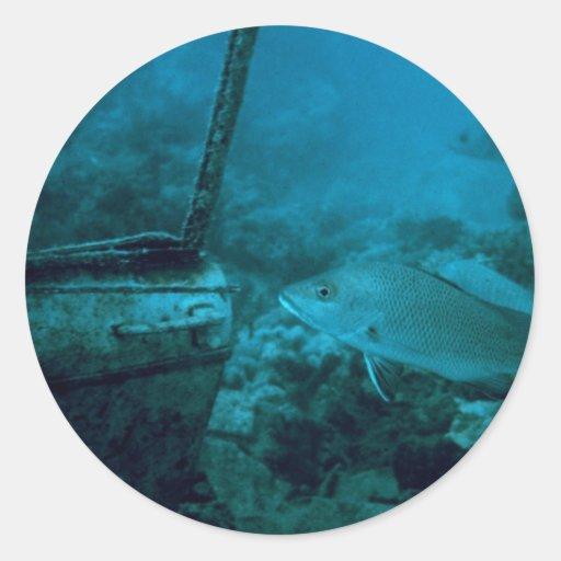 海 床 丸形シールステッカー