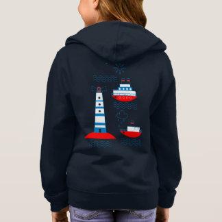 海、船、灯台、 スウェットシャツ