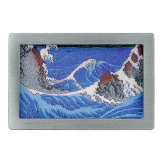 海、Hiroshigeの歌川広重 長方形ベルトバックル