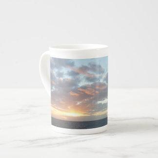 海Iのパステルの海景の日の出 ボーンチャイナカップ