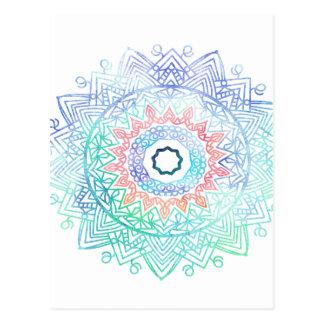 海madala。 水の青いピンク ポストカード
