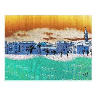 海Supetarの都市 ポストカード