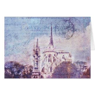 消印を押されたNotre Dame カード