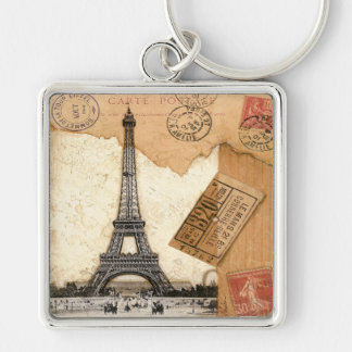 消印、パリ キーホルダー
