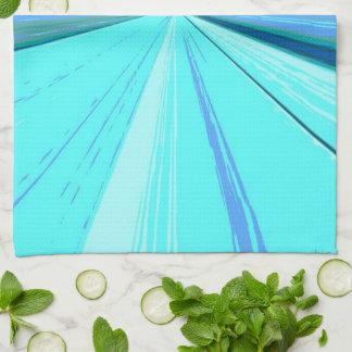 消失点のJanz著青緑色の台所タオル キッチンタオル