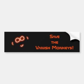 消失猿のバンパーステッカーを救って下さい バンパーステッカー