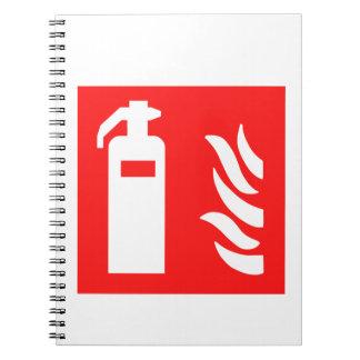 消火器の記号 ノートブック