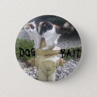 消火栓の犬の餌の子猫 5.7CM 丸型バッジ