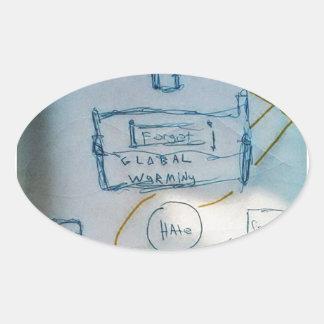 消費の講壇 楕円形シール