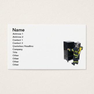 消防士およびロッカー 名刺