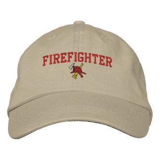 消防士によって刺繍される帽子 刺繍入りキャップ