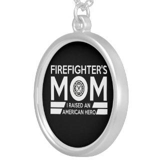 消防士のお母さん シルバープレートネックレス