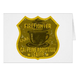 消防士のカフェインの常習リーグ カード