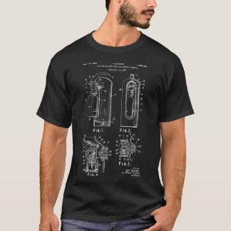 消防士のギフトの消火器のパテントのTシャツ Tシャツ