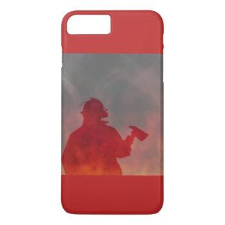 消防士のギフトのIPhoneの場合は消防士の赤を炎にあてます iPhone 8 Plus/7 Plusケース